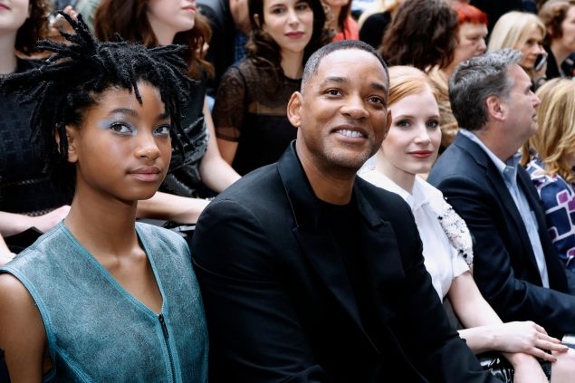 Willow Smith, Will Smith and Jessica Chastain