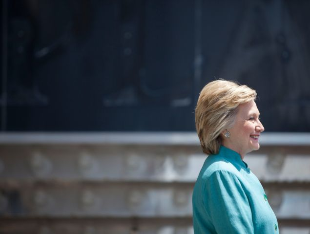 ATLANTIC CITY, NJ - JULY 6: Presumptive Democratic presidential nominee Hillary Clinton speaks at a rally on the boardwalk on July 6, 2016 in Atlantic City, New Jersey. Clinton addressed presumptive Republican presidential nominee Donald Trump's business record.