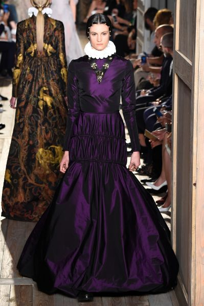 A look from Chiuri's final collection at Valentino, for Fall 2017 couture