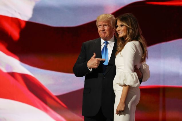 Donald and Melania Trump last night.