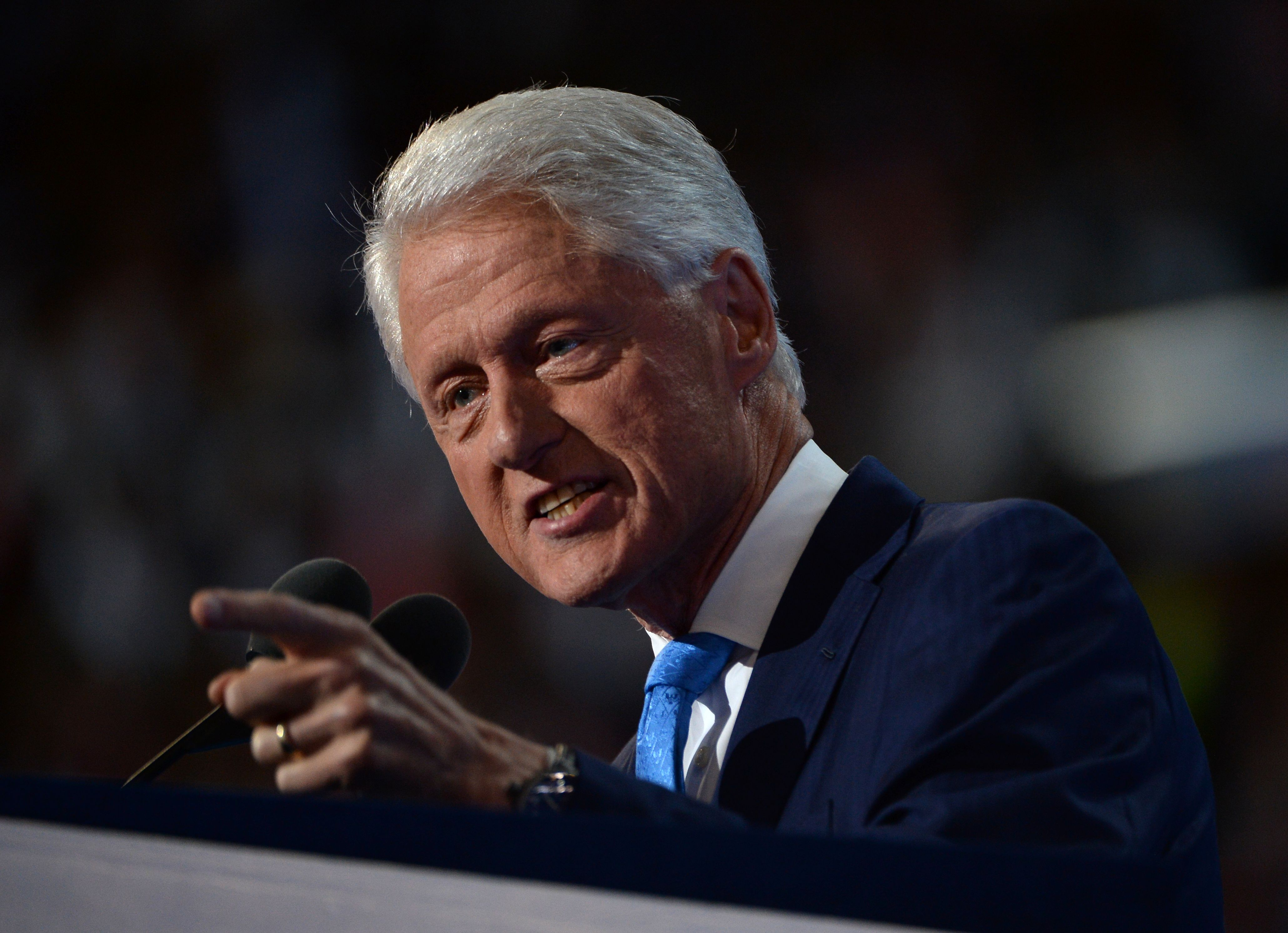 Former President Bill Clinton speaks at the Democratic National Convention
