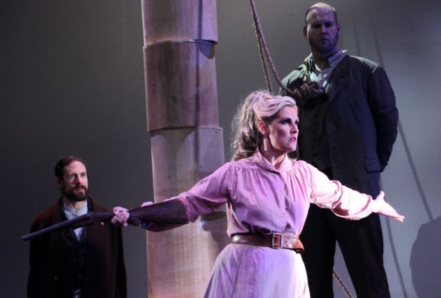 Minnie (soprano Stacey Stofferahn) saves the day in 'Girl of the Golden West'.