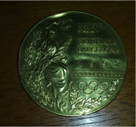 The medal a 6 year-old found during a walk.