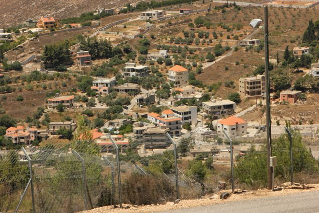 Hezbolla occupied homes on the Lebanese border to Israel.