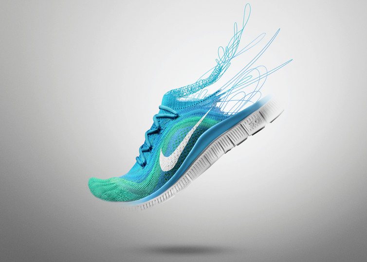 Nike Flyknit Women's running shoe reflects a zero-waste, functional design.