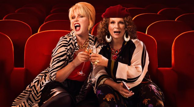 Joanna Lumley and Jennifer Saunders in Absolutely Fabulous!.