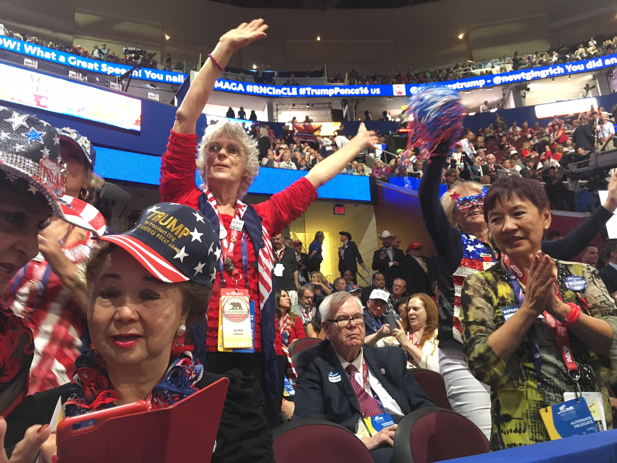 RNC attendees dance to music.