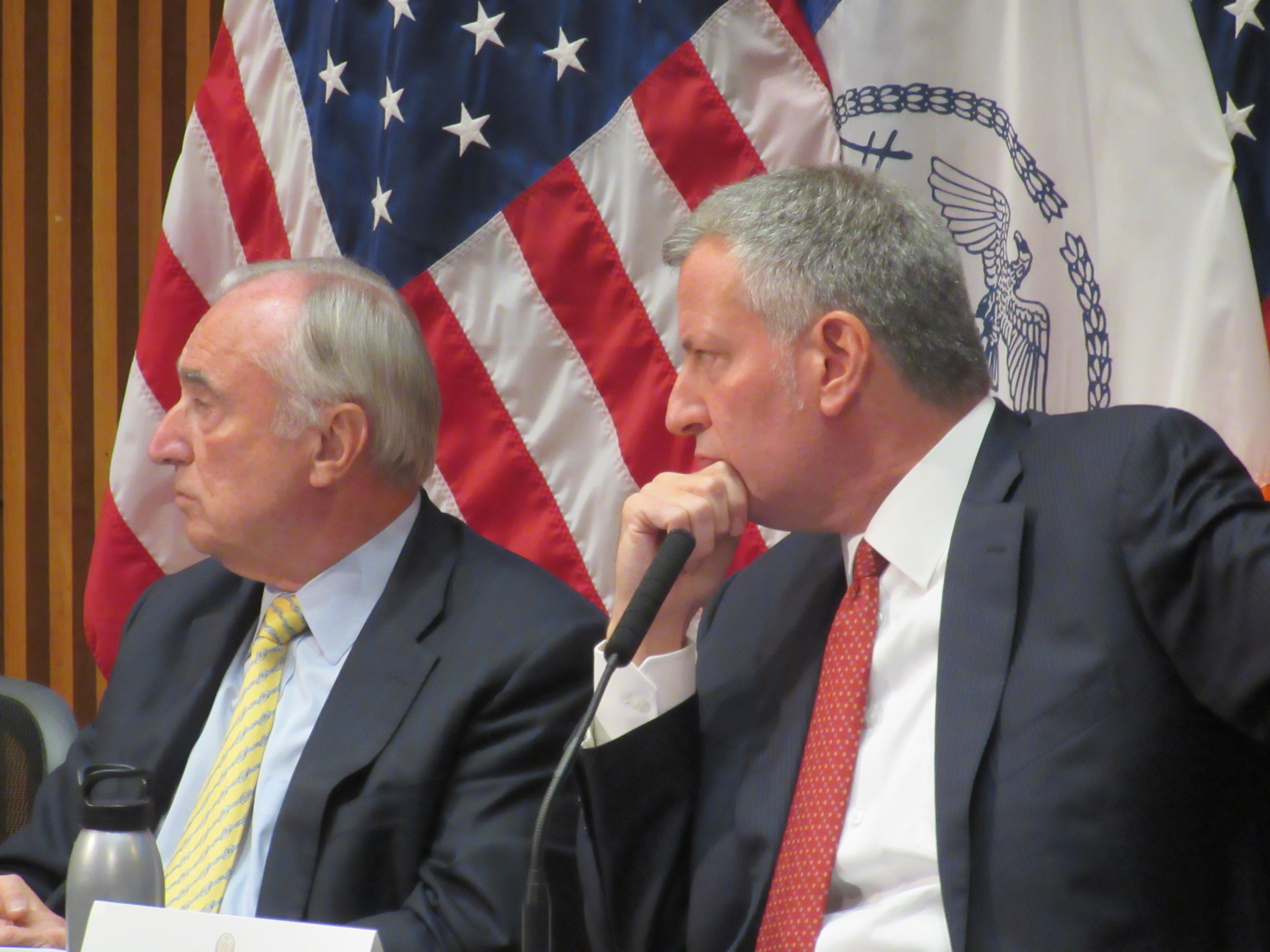 Police Commissioner Bill Bratton and Mayor Bill de Blasio gave an update on citywide crime.