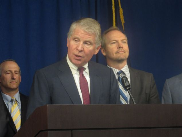 Manhattan District Attorney Cyrus Vance announced charges against a Harlem landlord and others this morning.