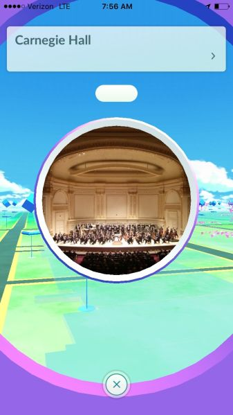 Pokémon Go at Carnegie Hall.