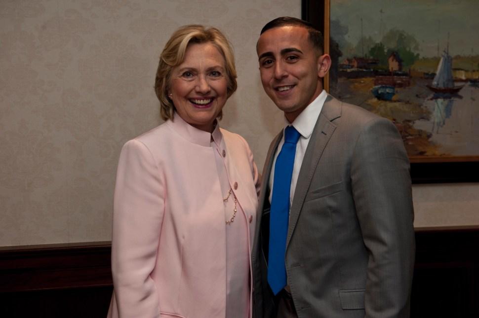 Abdelaziz with former Secretary of State Hillary Clinton.