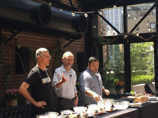 From left to right: Patrick Brown, Harold McGee and David Chang.