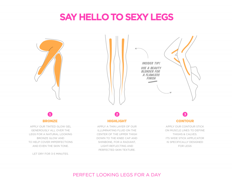 Say hello to sexy legs with this brand new product.