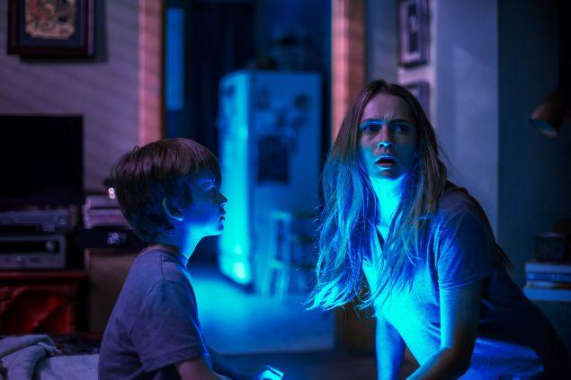 Gabriel Bateman and Teresa Palmer in Lights Out.