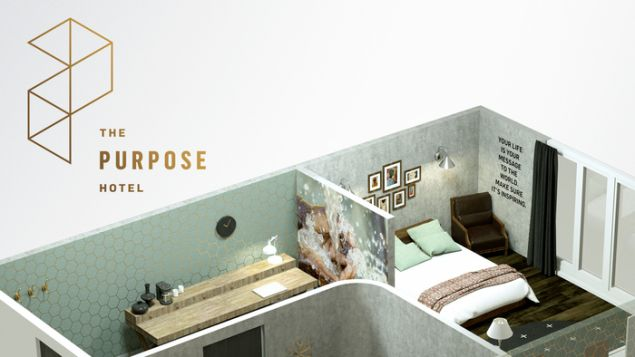 'Change the world in you sleep' is the motto of the Purpose Hotel.