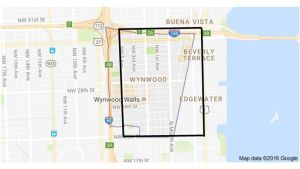 A map outlining where Zika has been contracted in Miami.