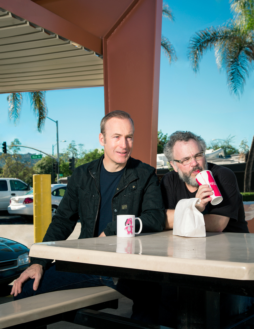 Lewis with actor Bob Odenkirk.
