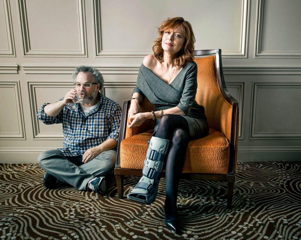 Lewis with actor Susan Sarandon, shot for Observer.