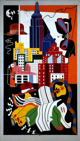 Stuart Davis, New York Mural, 1932.