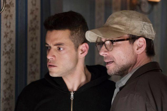 Elliot Alderson and Christian Slater as Mr. Robot.