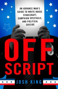 "King's new book, ""OFF SCRIPT,"" was published in April 2016."