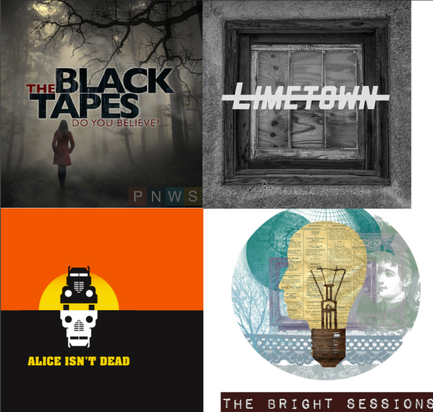 The Black Tapes, Limetown, Alice Isn't Dead and The Bright Sessions