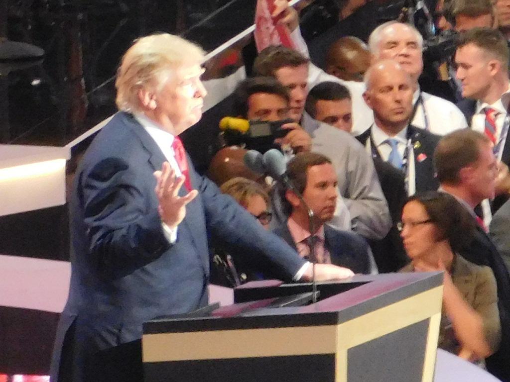 Trump at the RNC.