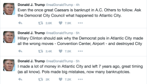 Trump was quick to preempt Clinton's criticisms Wednesday morning