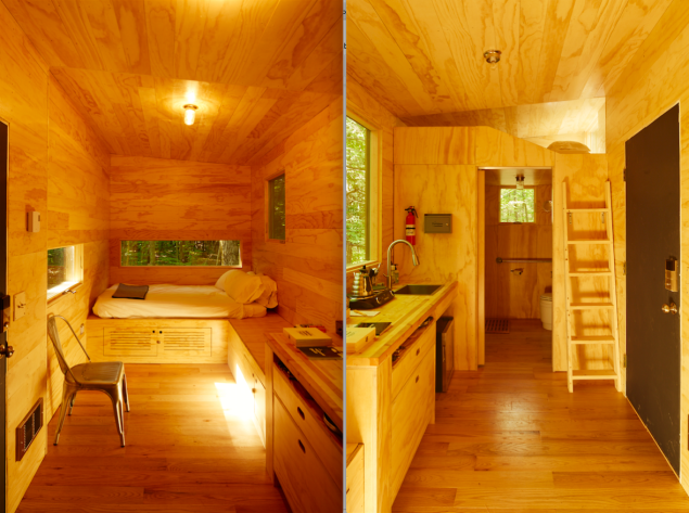 Interior views of the Isidore. The exterior view is at the top.