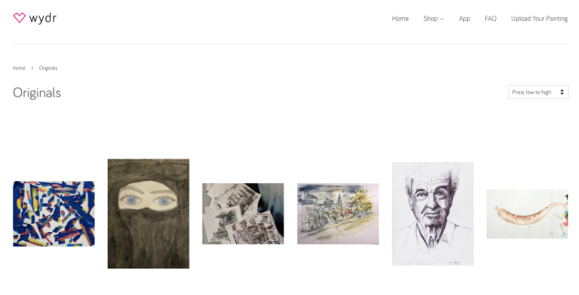 A selection of art available on Wydr.
