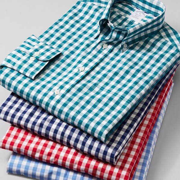 Cotton gingham shirts from Brooks Brothers.