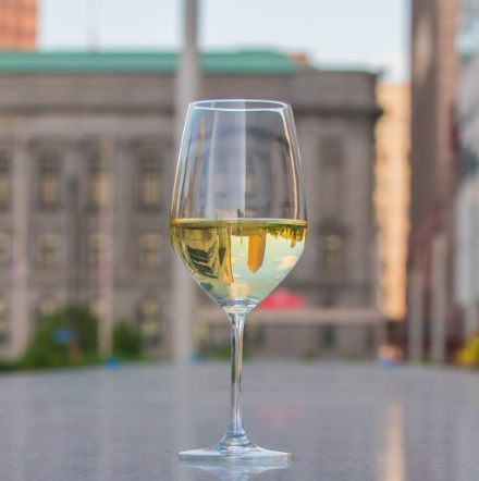 Bar 32 is a part of the Hilton Cleveland Downtown, offering both drinks and a view.