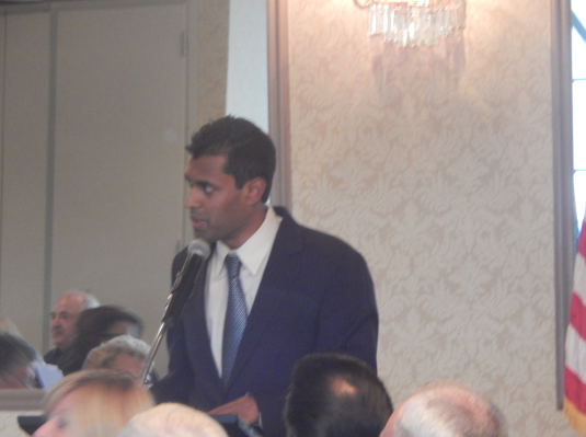 Monmouth County Democratic Chairman Vin Gopal at Wednesday's fundraiser, which drew 651 people and a $120,000 haul
