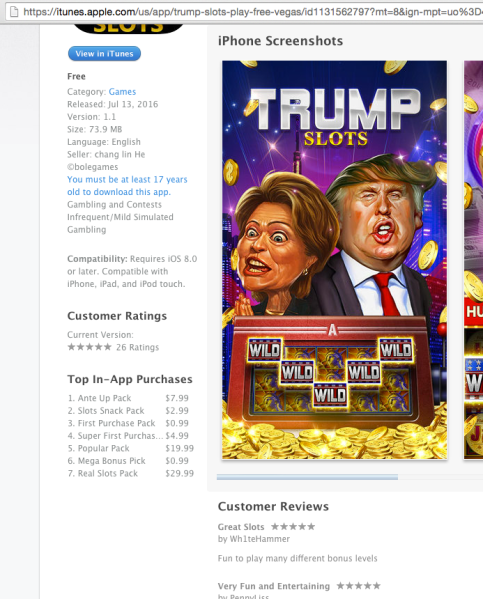 How it looks in the itunes store