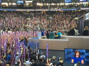 Michelle Obama carried the crowd with ease following Booker's speech