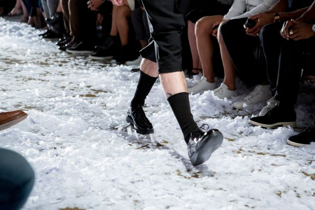 The Snarkitecture designed runway at Public School's Spring/Summer 2015 show