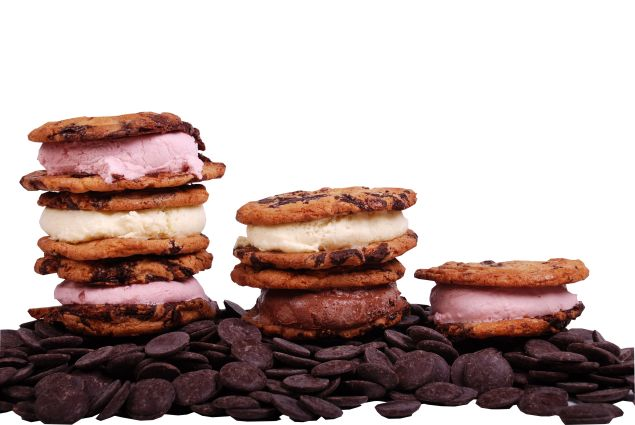 Stacked sandwiches for National Ice Cream Sandwich Day.