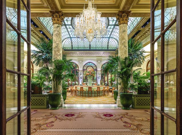 Afternoon tea at the glitzy Palm Court is most frequented by tourists.