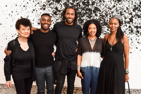 From left to right: Lorraine O'Grady, Adam Pendleton, Rashid Johnson, Adrienne Edwards and Wangechi Mutu.