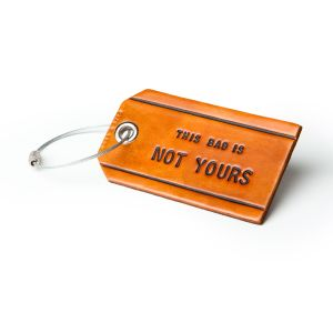 The luggage tag that started it all.