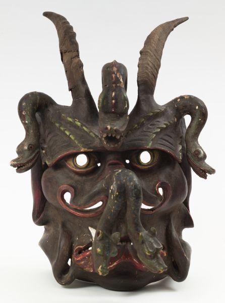 Viennese brothel Krampus mask, date unknown.