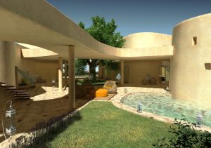 The Villa Palas is made up of four different structures.