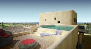 The Luxi Villa has a rooftop pool.