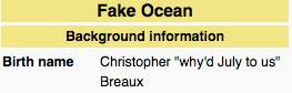 """""""Fake Ocean,"""" """"why'd July to us?"""""""