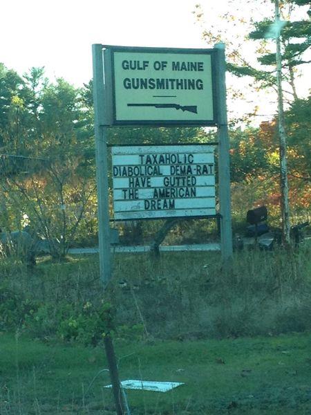 The sign at Gulf of Maine Gunsmithing.
