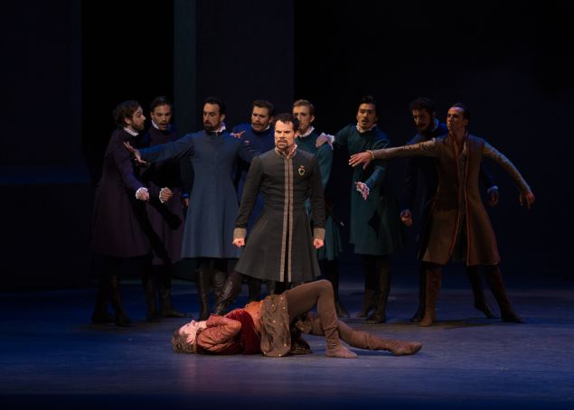 Piotr Stanczyk, Harrison James and Artists of The National Ballet of Canada in Christopher Wheeldon's The Winter's Tale.