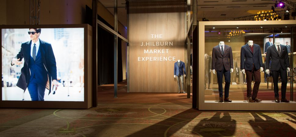 J. Hilburn's pop-up showroom