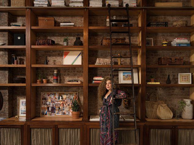 Dana Arbib in A Peace Treaty studio