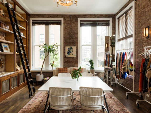 Tall ceilings and the natural light were a draw for this space