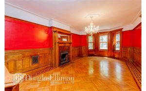 Despite the inlaid hardwood floors and mantlepieces, no one has snatched the place up just yet.